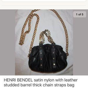 HENRI BENDEL studded barrel thick chain strap bag
